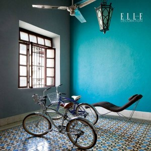 Moorish Tiles and Turquoise Wall