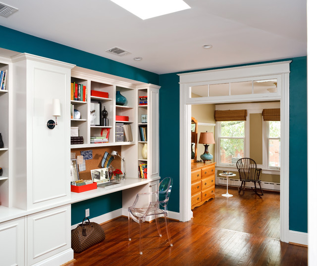 Naples Blue Home Office Interiors By Color