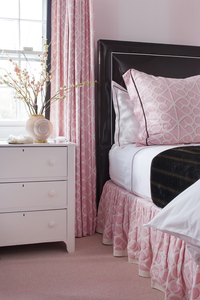 Pink Bedding Black Leather Headboard Interiors By Color