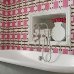 Pink Wallpaper Print for the Bathroom