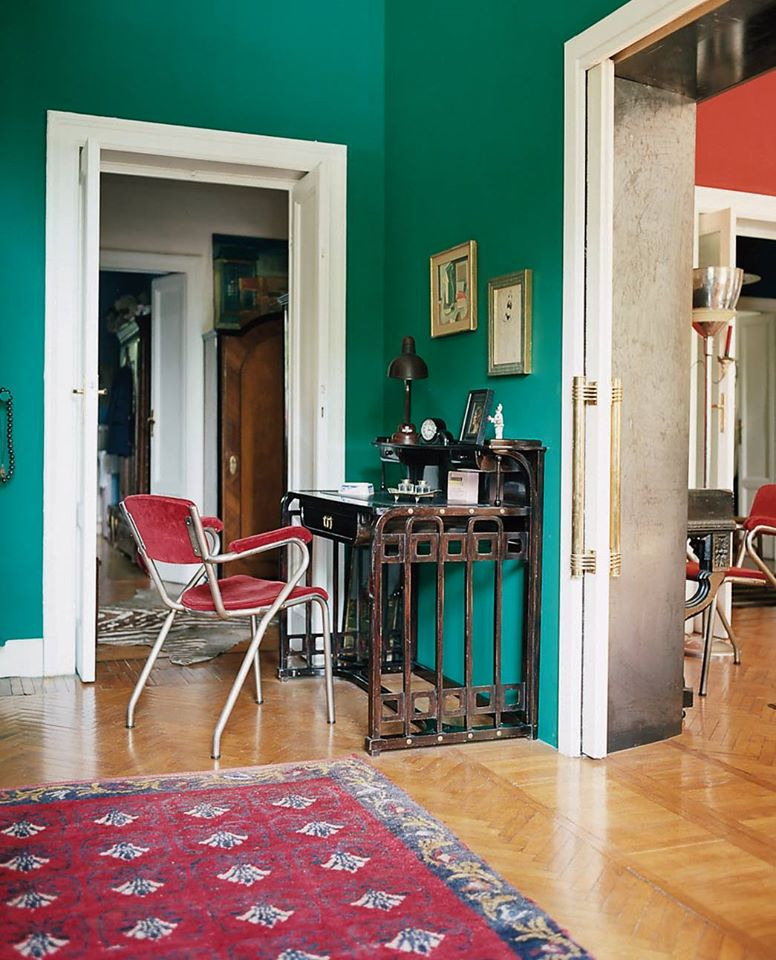 Red and Kelly Green Study