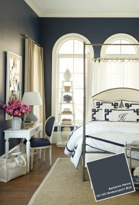 Master Bedroom In Blue Note Benjamin Moore Interiors By
