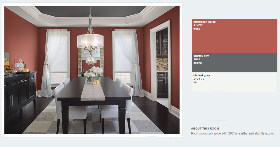 Benjamin Moore 2014 Red Dining - Interiors By Color
