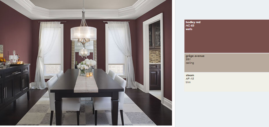 Benjamin Moore 2014 Red Dining Interiors By Color