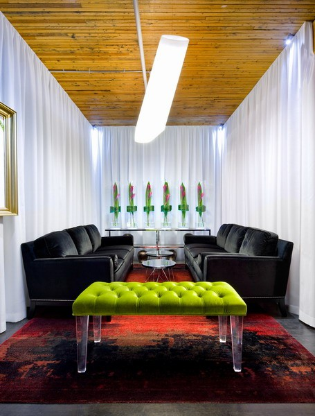 Chartreuse And Velvet Interiors By Color