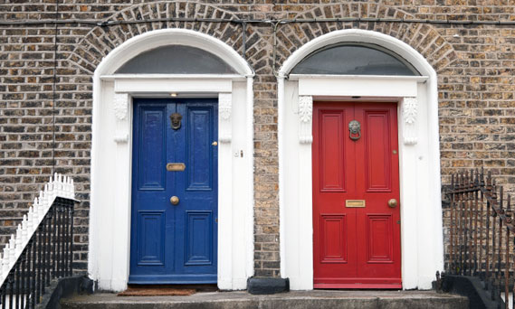 Doors Red and Blue