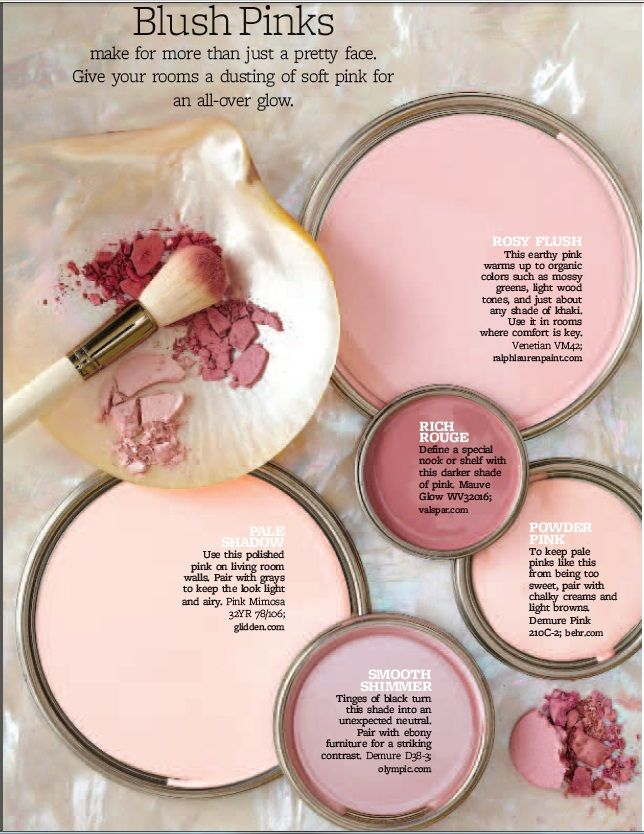 Paint Palette Blush Pinks Interiors By Color