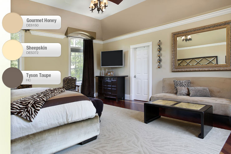Taupe And Beige Bedroom Interiors By Color