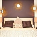 Purple, Gold and Cream Bedroom