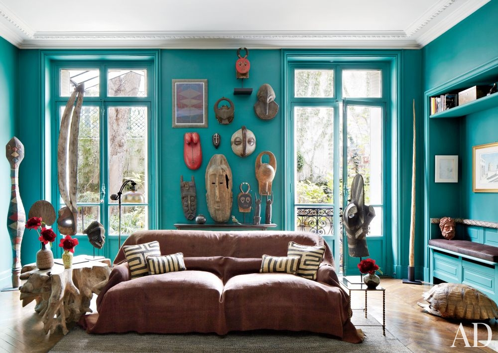 Tribal Contemporary Living Interiors By Color