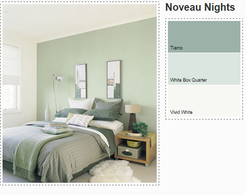 dulux-bedroom-in-green-paints