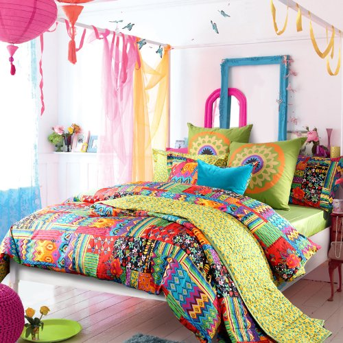 Exotic Fun Colorful Boho Bedding Interiors By Color