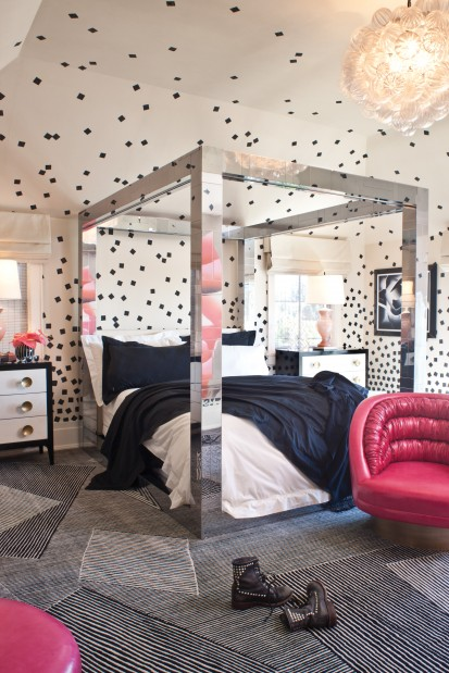Funky glam bedroom interiors by color Funky bedroom accessories
