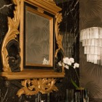 Glam Gold and Black Bathroom
