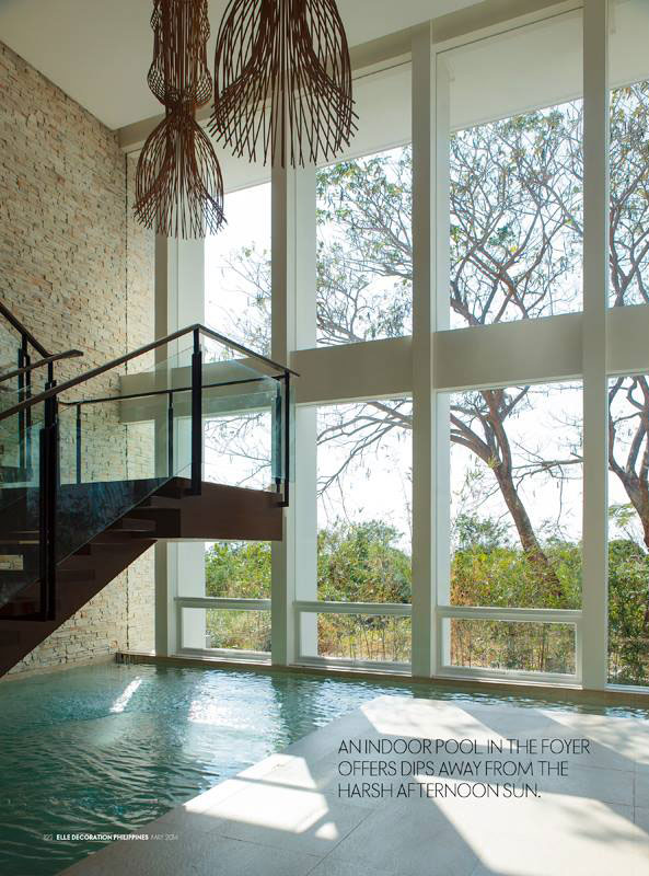 Indoor Pool in the Foyer