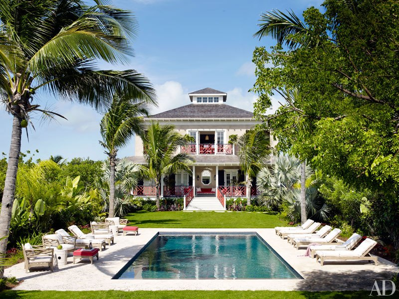 Red And Blue Bahamas Home By Branca Interiors By Color