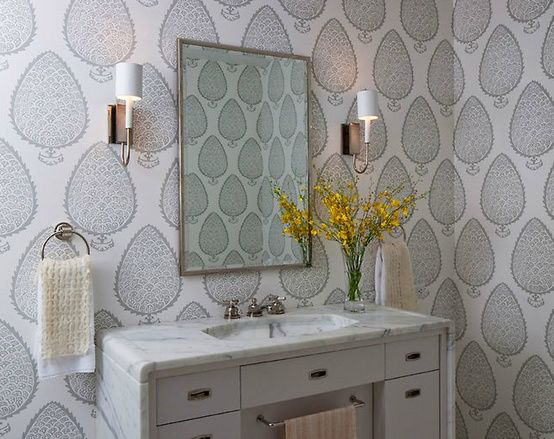 Large Scale Leaf Pattern Wallpaper Interiors By Color