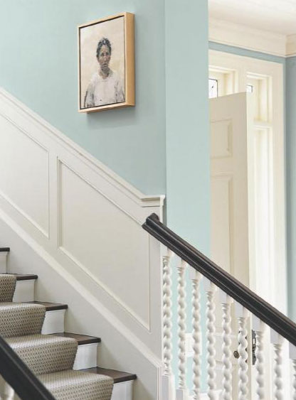 Farrow Amp Ball Light Blue 22 Stairs Interiors By Color