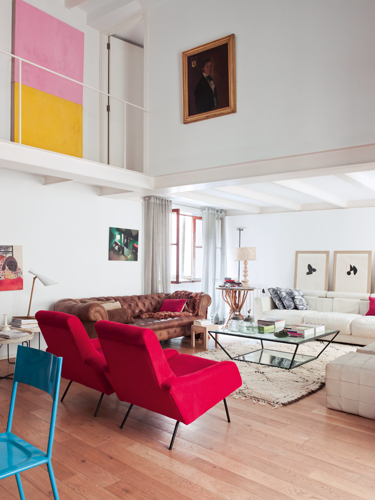 Contemporary Red And White Living Room Interiors By Color