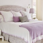 Traditional Lavender Master Bedroom