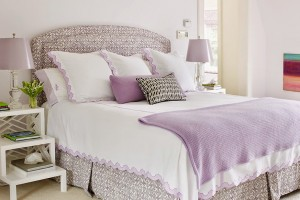 Traditional Lavender Master Bedroom