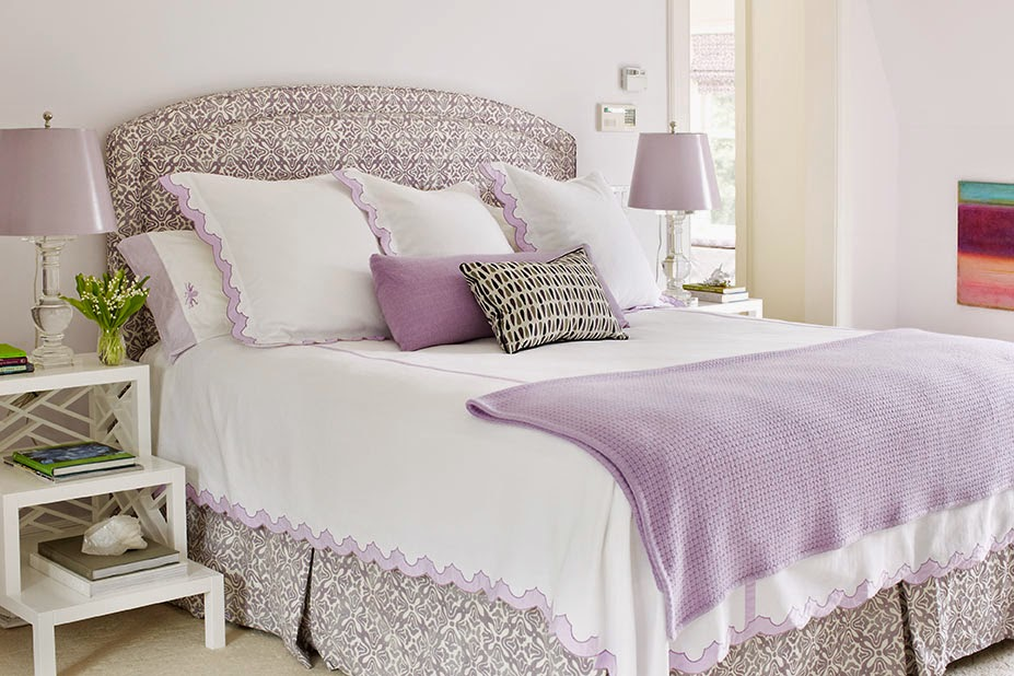 Traditional lavender master bedroom interiors by color Royal purple master bedroom