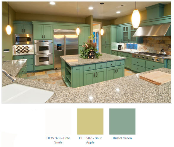 Green Paint Color Palettes