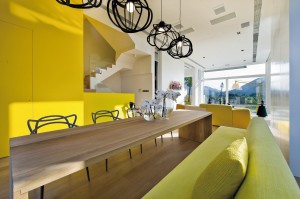 Modern Yellow Living Space