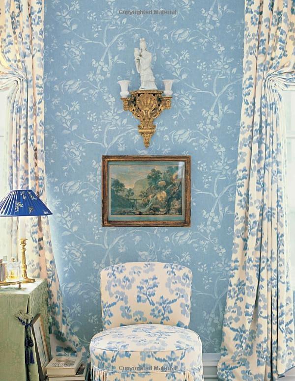 pastel blue floral fabrics