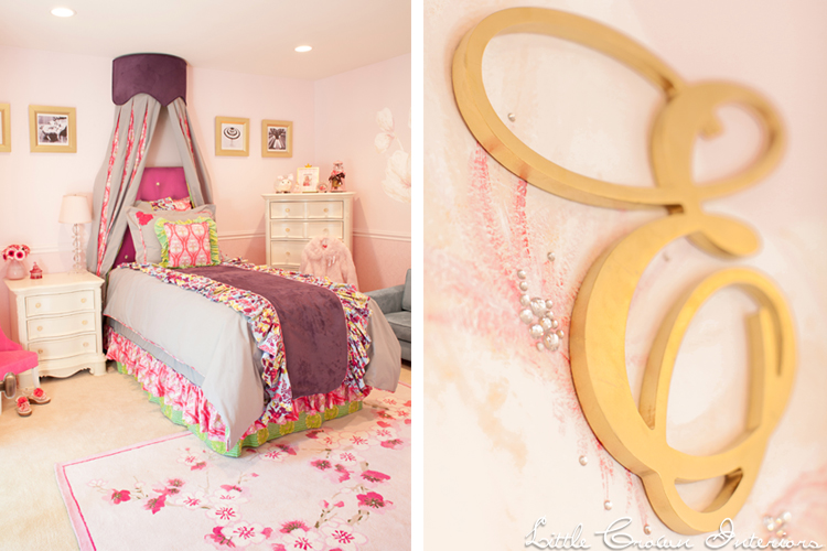 Girls Bedroom In Pink And Green Interiors By Color