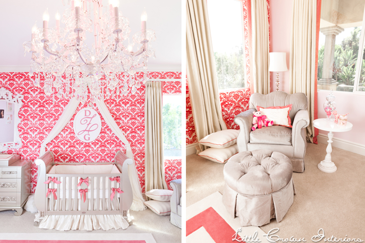 Pink Damask Nursery - Interiors By Color