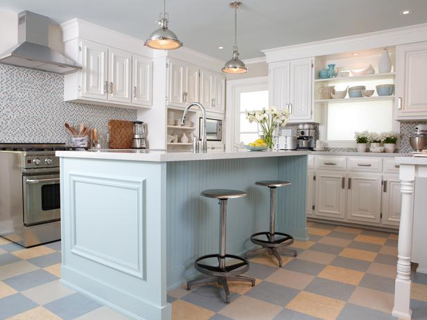 Robins Egg Kitchen Island