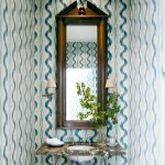 Small and Stylish Powder Room
