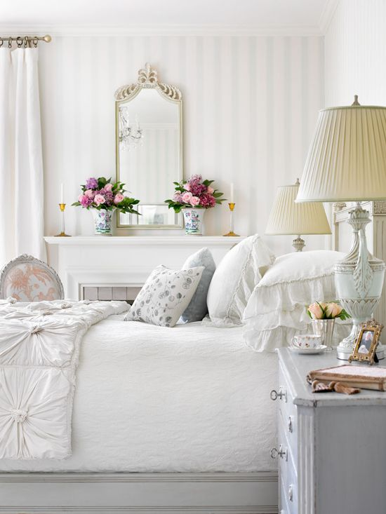 traditional white bedroom