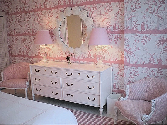 Tropical Bedroom In Pastel Pink Interiors By Color