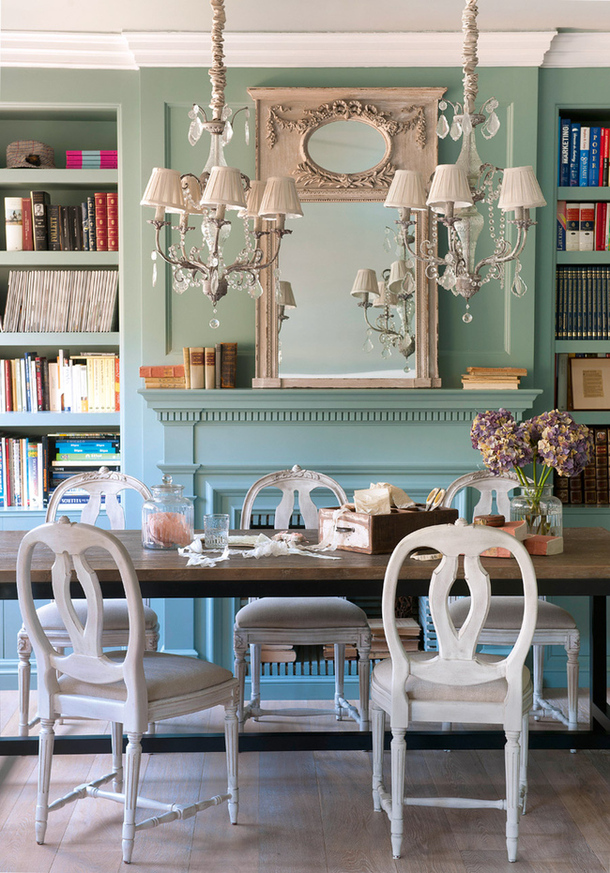 Classic Dining Room in Turquoise
