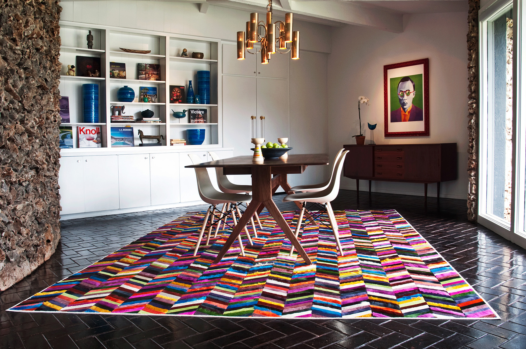 Colorful Rugs In Living Room Farmhouse