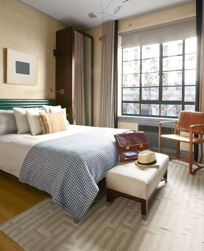 700 Square Feet masculine bedroom