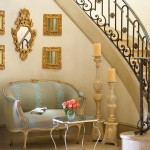Formal Foyer in Blue and Gold