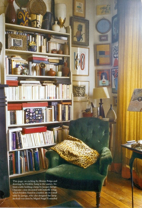 Books And Green Velvet Interiors By Color