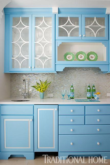 Cabinets in Benjamin Moore Swiss Blue