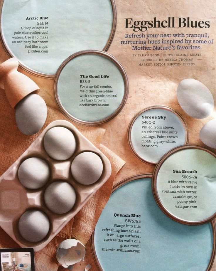 Eggshell Blues Paint Palette Interiors By Color