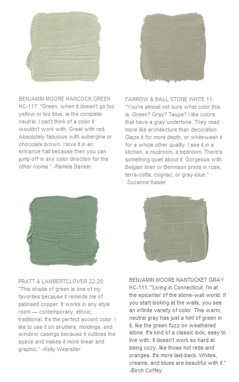 Green Paint Color Selection