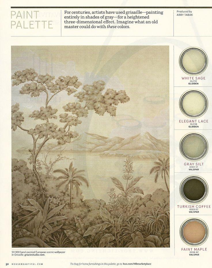 Grisaille Paint Palette