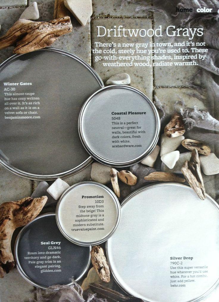Paint Palette Driftwood Grays