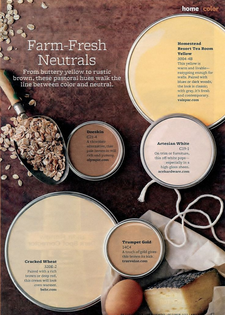 Paint Palette Farm Fresh Neuatral Interiors By Color