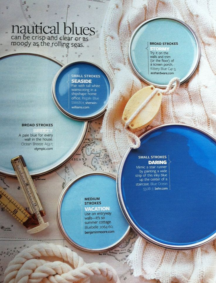 paint palette nautical blues interiors by color