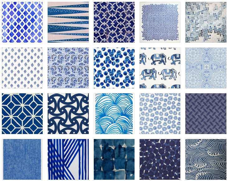 Pattern Library -Inky Indigo Blues