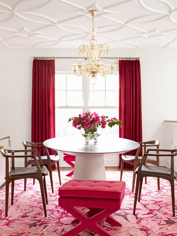 Pink Dramatic Dining