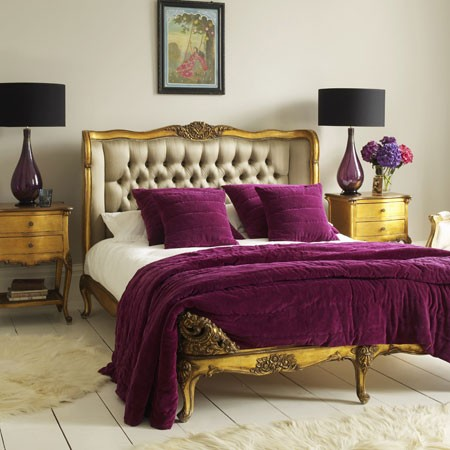 Purple Plum And Gold French Bedroom